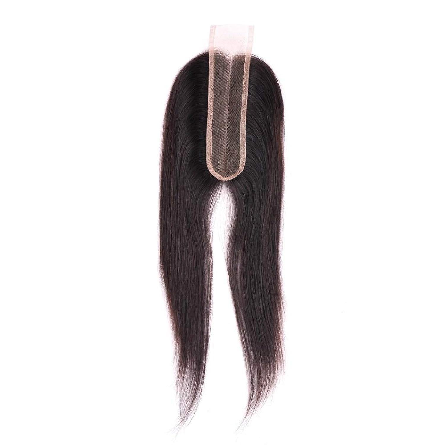 南環境スリルSRY-Wigファッション 黒人女性のためのファッションストレートレースフロントウィッグベビーヘアレースフロントウィッグ付きブラジル人毛ウィッグ (Color : ブラック, Size : 18inch)