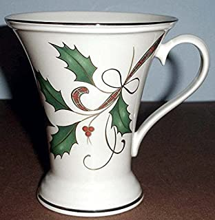 Lenox Holiday Nouveau Accent Mug Holly/Berry Motif 10 oz. New In Box