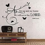 Adesivi murali fai da te Adesivi personalità creativa Adesivi con citazione Versetti biblici Dio Religione Dicendo Arte familiare 81X47Cm