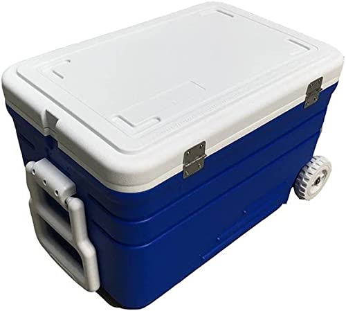 JXS Réfrigérateur Complet De Boîte De Réfrigérateur D'unité Centrale, Camping, Pique-Nique, équipé du Thermomètre Et des Roues (52L)