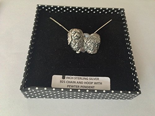 D9 - Collar de plata de ley 925 con cadena de 45,72 cm hecha a mano con prideindetails caja de regalo