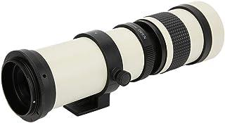 Lente telescópica blanca con zoom teleobjetivo súper 420-800MM F/8.3-16 Lente teleobjetivo de enfoque manual para cámara con montura EF Canon Cuerpo de aluminio lente zoom teleobjetivo