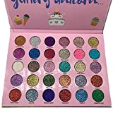 Abelyn Long Lasting Glitter Eyeshadow Palette Makeup 30 Colors High Pigment Shining Shimmer Eye Pressed Powder Cosmetics Beauty Party