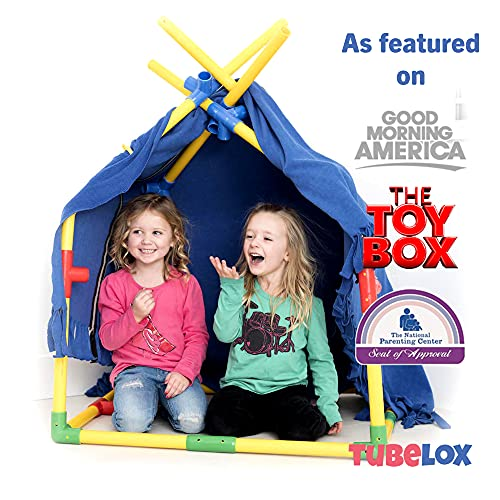 Tubelox Deluxe Building Set - The Ultimate Kids STEM Toy Set - Create Anything - Supports Kids Weight for Endless Possibilities | 220 Piece Set