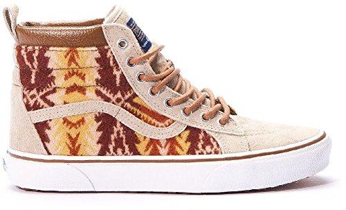 Vans – Unisex-Adult Sk8-Hi Mte Shoes, Size: 5.5 D(M) US Mens / 7 B(M) US Womens, Color: (Mte) Pendleton/Tribal/Tan