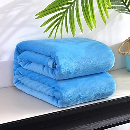 SoliColor - Colcha para sofá (200 x 230 cm, franela súper cálida, 200 x 230 cm)