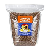 ZINFOD 100% Non-GMO Dried Mealworms - High-Protein Mealworm Treats - Perfect for Your Chickens, Ducks, Wild Birds, Turtles, Hamsters, Fish, and Hedgehogs