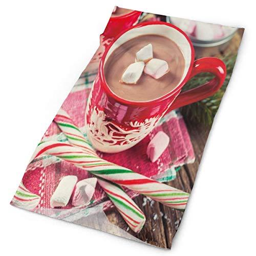 GUUi Hoofddeksels Hoofdband Hoofd Sjaal Wikkel Sweatband, wazige achtergrond foto Van Hete Chocolade In Mokken Met Marshmallows Candies,Sport Hoofddoeken Voor Mannen Vrouwen