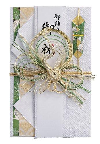 マルアイ 祝儀袋 結婚式 デザイン 和風 とわ 鶴 緑 1枚 キ-659G