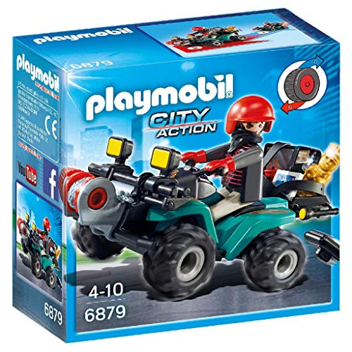PLAYMOBIL City Action 6879 Bandiet en quad met lier