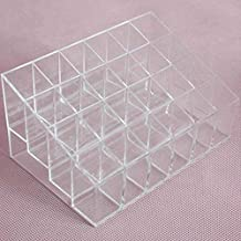 Majoxin 24 Grid Lipstick Holder Plastic Cosmetic Organizer Lipsticks Display Rack Portable Makeup Storage Box