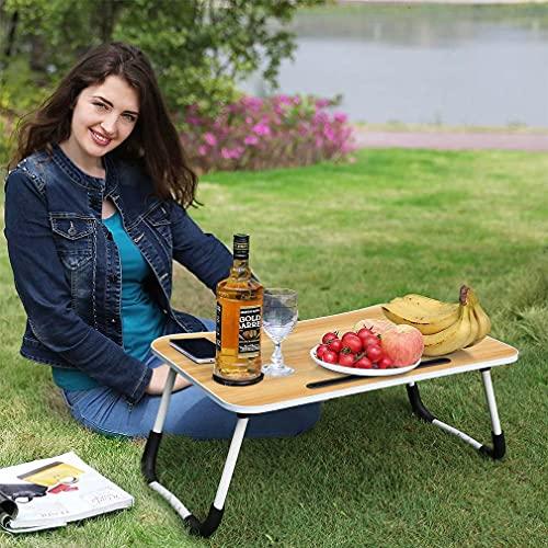 LC&TEAM Notebooktisch klappbar Betttisch Frühstück Tablett Bett Laptoptisch Couch Lapdesk mit Schublade Serviertablage faltbar Lesetisch mit Tassenschlitz Esstisch für Bett, Boden, Sofa