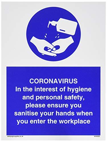 CORONAVIRUS En interés de la higiene y la seguridad personal, asegúrate de desinfectar tus manos.
