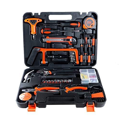 anruo 82 stuks/set van multifunctionele huishoudelijke gereedschapsset sleutelcombinatiesleutel momentsleutel set auto reparatie handmatige gereedschapswagen