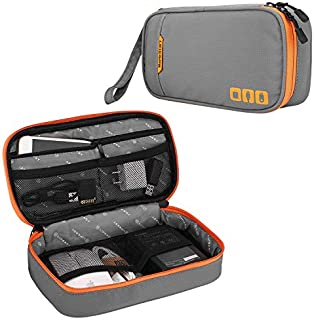 Acoki Travel Carry Bag,Electronic Accessories Thicken Cable Organizer Bag Portable Case for Hard Drives, Cables, Grey(S)