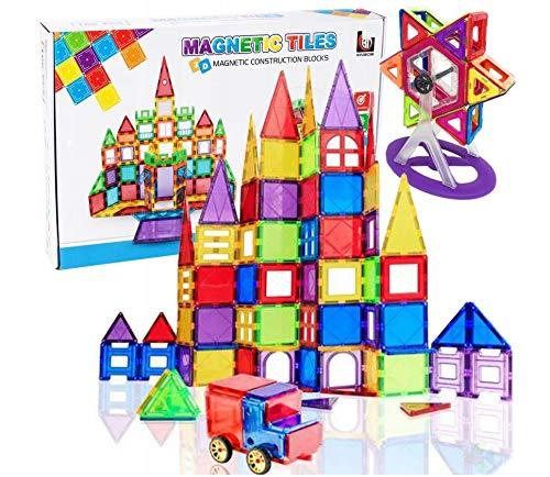 NEU Bausteine 3D Magnetisch - XXXL Set (106 Elemente!) Geniales Konstruktion Bastelspiel Konstruktionsspiel Lernspiel Geschicklichkeitsspiel - Kreatives Spiel Basteln Bauklötze Bauset