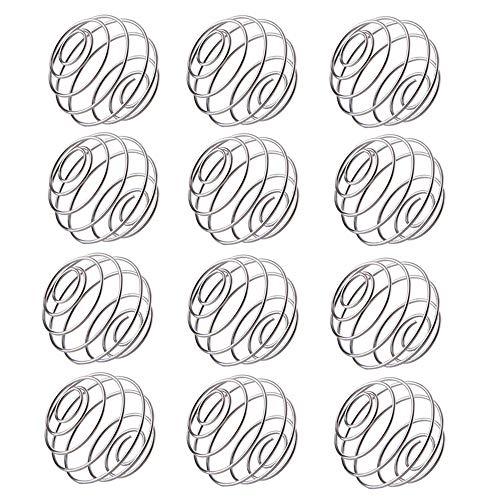 12 Stück Edelstahl-Flaschen Mixer Ball Mixer Balls Shaker Flasche Ball Ersatz für Trinkflasche Cup