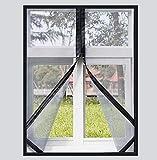 Red de seguridad para ventanas de protección para interiores, malla de ventana con cremallera, malla de pantalla autoadhesiva transpirable, fácil instalación, lavable, a prueba de desgarros, extraíble