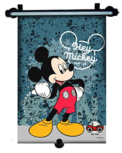 Mickey Mouse MCSAA111 Disney Sonnenschutzrollo Sonnenschutz, Blau