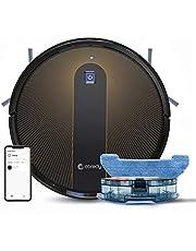 Coredy R750 Robot Aspirador y Fregasuelos 3 en 1, con conexión Wi-Fi, Alexa y Google Home, Potente aspiración de 1600Pa, Ultrafino, silencioso, Barre, aspira y friega para Suelos Duros y Alfombras