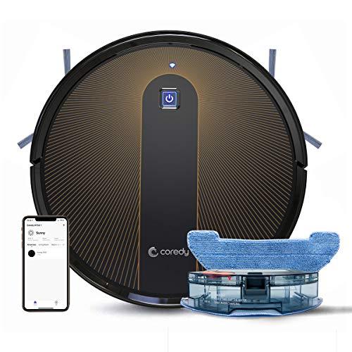 Coredy R750 Robot Aspirador y Fregasuelos 3 en 1, con conexi