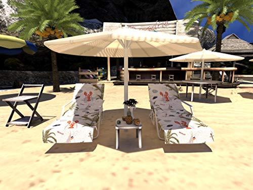 GZGZADMC - Funda para silla de playa, tumbona o tumbona, para piscina, para tomar el sol, tumbona, hotel, vacaciones, Funda para silla de playa F