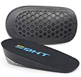 SQHT's Height Increase Insole - Gel Heel Shoe Lift Inserts, Achilles Tendon Cushion for Men and Women (Large (1' Height))