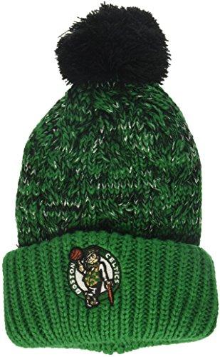 OTS NBA Boston Celtics Women's Brilyn Cuff Knit Cap with Pom, Team Color, Women's