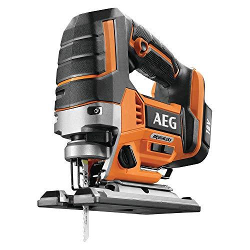 AEG 4935459654 Brushless decoupeerzaag (borstelloze motor, 18 V, LED-verlichting, 4 pendelopzet-instellingen, zonder accu) BST18BLX-0