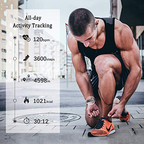 Lintelek Fitness Tracker - Activity Tracker with Heart Rate Monitor and Free Band, Smart Fitness Watch with Sleep Monitor, Step, Calorie Counter, Pedometer Watch for Kids, Women, Men and Gift 4