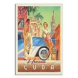 RQSY Vintage-Reise-Poster Kuba Havanna Schatten Leinwand