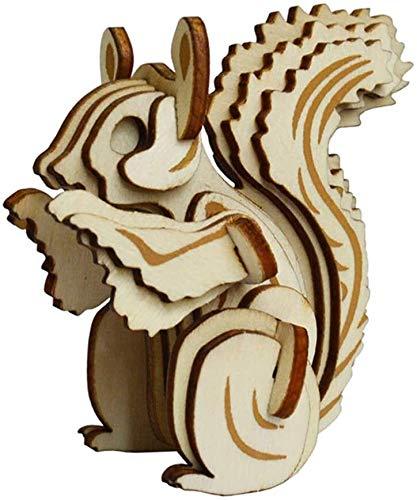 Ardilla 3D Woodcraft Construction Kit, Ardilla Rompecabezas 3D de Madera Modelo Woodcraft Construction Kit Jigsaw Sentido de la orientación del Juguete, 002 # ( Color : 003# )