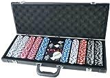 Tactic Games UK PRO Poker 500fiches Poker Game Set in Alluminio Nero Custodia
