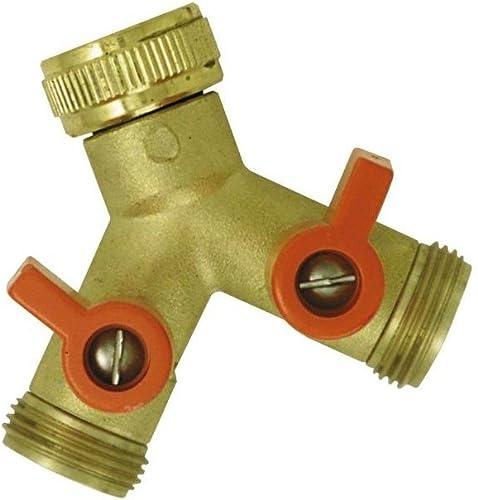 Boutté YR20 Circuits Nez de robinet y selecteur 2 sorties vannes male 20x27, Or