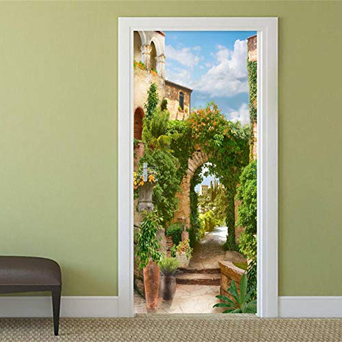 Diopn deursticker, decoratie, deur, sticker, natuur, landschap, behang, woonkamer, eetkamer, deur, plakfolie, vc, zelfklevend, 3D(70 x 200)