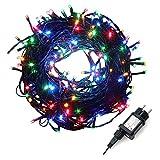 dystaval 30M 300 LED Guirlande Lumineuse RGB Extérieur Noël, 8 Modes Changement , Etanche IP65, 220V-31V, Guirlande Lumineuse Multicolor Couleur Décoration Jardin Sapin Mariage