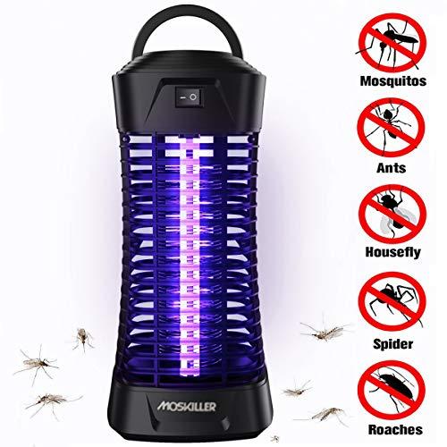 seenlast Lámpara Antimosquitos Electrico, Luz UV Lámpara Repelente Zapper de Mosquitos Moscas, Trampas para Insectos Mosquito Killer para Mata Mosquitos Insectos Polillas