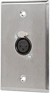 Monoprice 107396 XLR Female 3 -Pin One-Port Zinc Alloy Wall Plate