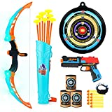 VEPOWER Bow and Arrow for Kids with Foam Dart Toys Gun, Light Up Archery Toy Set, Indoor Outdoor Games Sport Toys Gifts for Boys Girls Ages 3 4 5 6 7 8-12