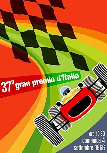 Vintage F1 Monza Grand Prix 1966 Rennen Plakat 11143 (A3-A4-A5) - A5