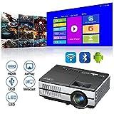 Portable Bluetooth Projecteur Bluetooth, Mini sans Fil Android Soutien HD 1080p Projecteur De...