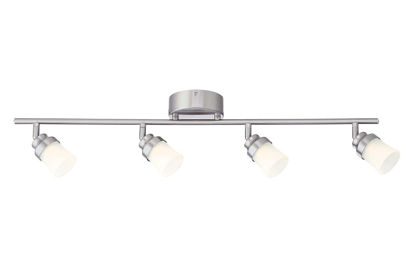 Designers Fountain EVT102027 Brushed Nickel LED Track Lighting Kit with 4 LED Track Lights, 1890 Lumens, 3 ft
