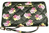 "Betsey Johnson Women's Z/A Floral Wristlet/Wallet Black/Floral, Yellow, 8""x4.5"""