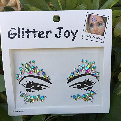 DaLin Face Gems Rave Festival Jewels Stick On Crystals Bindi Rainbow Tears Rhinestone Temporary Tattoo Face Rocks Body Stickers SFA003 (AB Color)