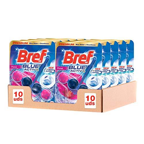 Bref Blue Active Floral Colgador WC – Pack de 10 unidades