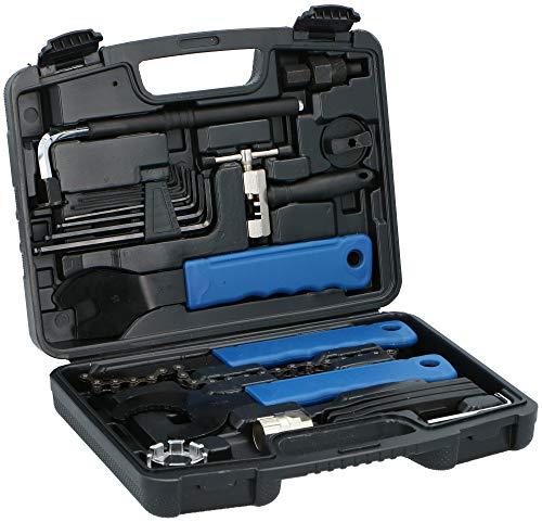 Kinzo Universeller 20 TLG. Fahrrad Werkzeugsatz - Reparaturfietsreparatieset - in einem praktischen Werkzeugkoffer