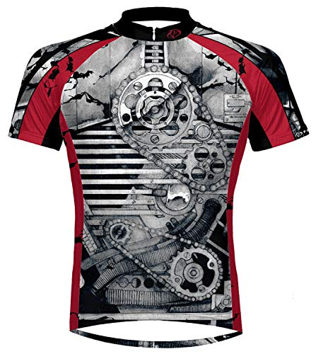Primal Wear Crankin Stein Cycling Jersey Mens Large Gray