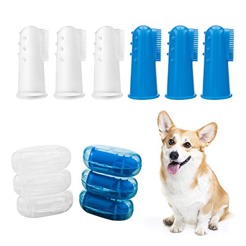 6 unidades Cepillo de Dientes para perro y gato, Cepillos Perros y Gatos Mascotas, Herramienta de muda para perros.