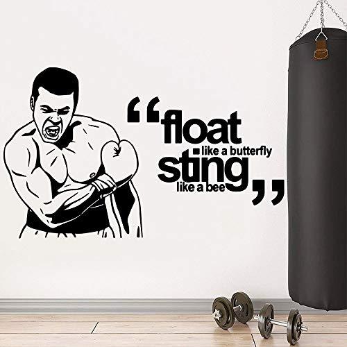 ASFGA Fitness Aufkleber Gym Aufkleber Bodybuilding Poster Vinyl Wandtattoo Wandbild Fitness Crossfit Finden Aufkleber Muskel Gym Aufkleber Auto 28cm x 45cm