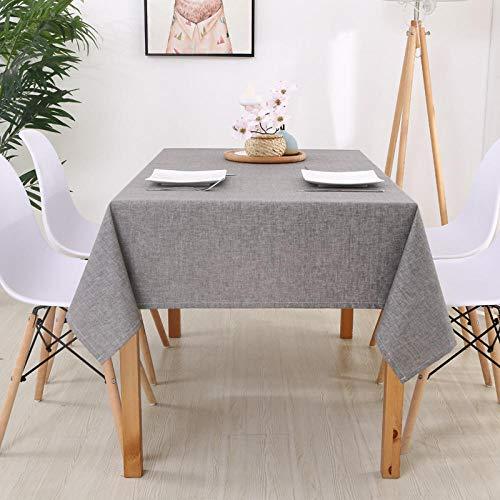 Haoxp afwasbaar, onderhoudsarm, bestand tegen warmte en vocht, picknick tapijt van stof voor tafelkleed waterdicht - lichtgrijs 130 x 200 cm